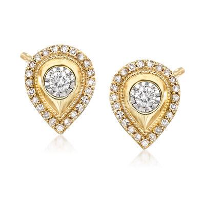 .30 ct. t.w. Diamond Pear-Shaped Earrings in 14kt Yellow Gold