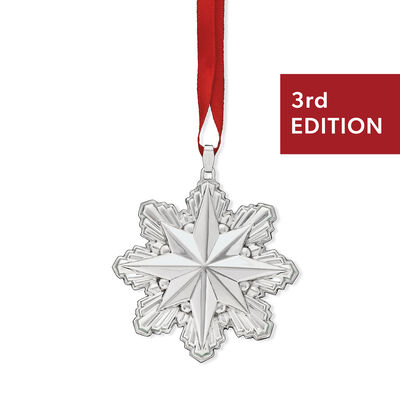 Reed & Barton 2019 Annual Sterling Silver Holiday Star Ornament - 3rd Edition, , default