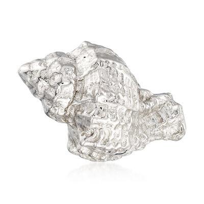 Italian Sterling Silver Conch Shell Motif Pin, , default