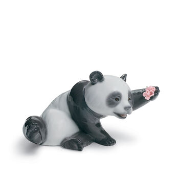 "Lladro ""A Jolly Panda"" Porcelain Figurine, , default"