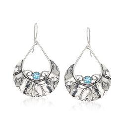 1.50 ct. t.w. Blue Topaz Teardrop Earrings in Sterling Silver, , default