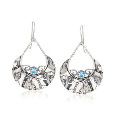 1.50 ct. t.w. Blue Topaz Teardrop Earrings in Sterling Silver, , default