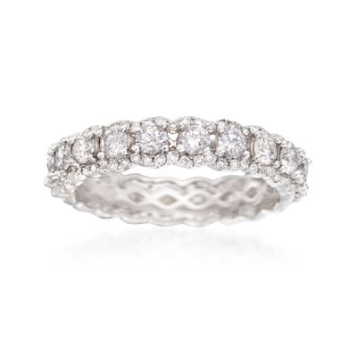 2.02 ct. t.w. Diamond Eternity Band in 14kt White Gold, , default