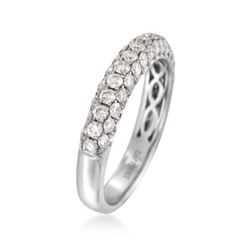 Henri Daussi 1.00 ct. t.w. Diamond Band in 18kt White Gold, , default