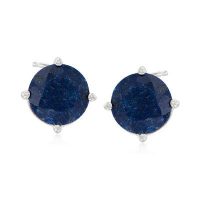4.00 ct. t.w. Sapphire Stud Earrings in Sterling Silver, , default