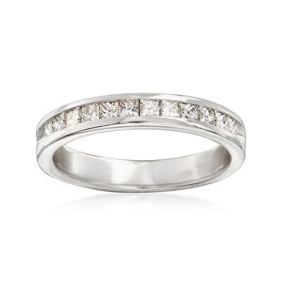 C. 1990 Vintage .60 ct. t.w. Princess-Cut Diamond Ring in 14kt White Gold, , default