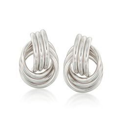 Sterling Silver Love Knot Earrings  , , default