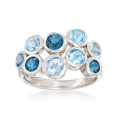 2.50 ct. t.w. Blue Topaz Bubble Ring in Sterling Silver, , default