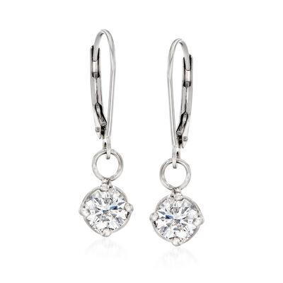 C. 1990 Vintage 1.55 ct. t.w. Diamond Drop Earrings in 14kt White Gold