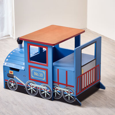 """Child's """"Little Captain"""" Train Play Table and Chair Set"""