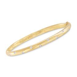 C. 2000 Vintage Tiffany Jewelry .25 ct. t.w. Diamond Bangle Bracelet in 18kt Yellow Gold, , default