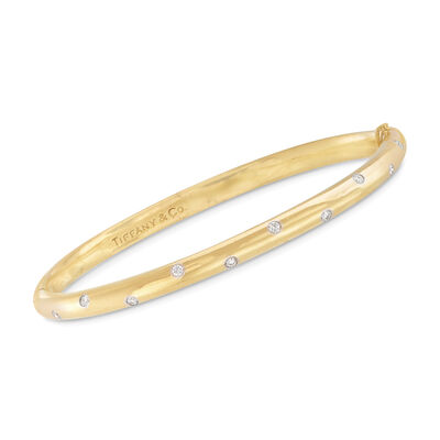 C. 2000 Vintage Tiffany Jewelry .25 ct. t.w. Diamond Bangle Bracelet in 18kt Yellow Gold, , default