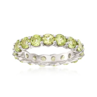 3.30 ct. t.w. Peridot Eternity Band in Sterling Silver, , default