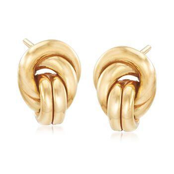Italian 18kt Yellow Gold Knot Earrings, , default