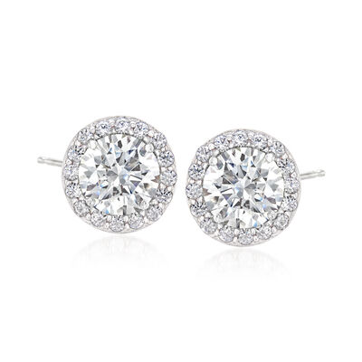 3.04 ct. t.w. Swarovski CZ Earrings in Sterling Silver, , default