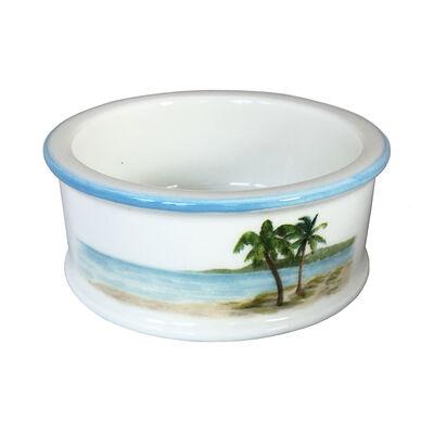 "Abbiamo Tutto ""Palm Breezes"" Ceramic Pet Bowl from Italy, , default"