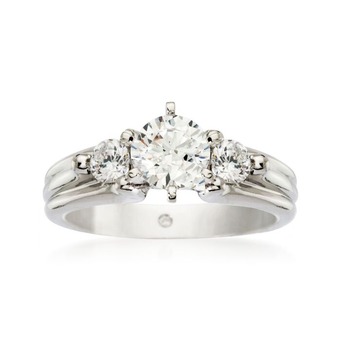 Gabriel Designs .30 ct. t.w. Diamond Engagement Ring Setting in 14kt White Gold