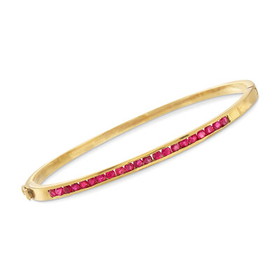 C. 1970 Vintage 1.65 ct. t.w. Ruby Bracelet in 18kt Yellow Gold, , default