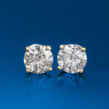 1.80 ct. t.w. Diamond Stud Earrings in 14kt Yellow Gold