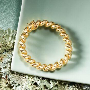Italian 18kt Gold Over Sterling Silver San Marco Bracelet