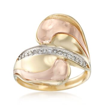 .18 ct. t.w. Diamond Bypass Ring in 14kt Two-Tone Gold, , default