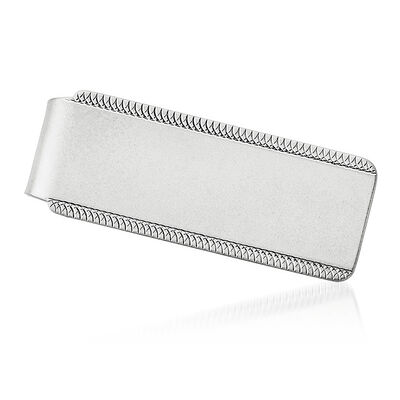 Sterling Silver  Engravable Money Clip, , default