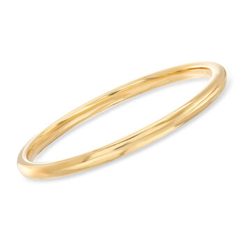 "Italian Andiamo 14kt Yellow Gold Bangle Bracelet. 7.5"", , default"