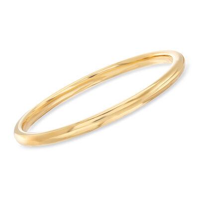 Italian Andiamo 14kt Yellow Gold Bangle Bracelet, , default