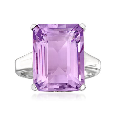 11.00 Carat Amethyst Ring in Sterling Silver