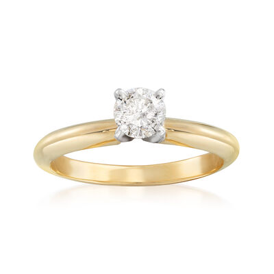 .40 Carat Diamond Solitaire Engagement Ring in 14kt Yellow Gold, , default