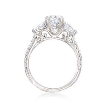 Gabriel Designs .58 ct. t.w. Diamond Engagement Ring Setting in 14kt White Gold, , default