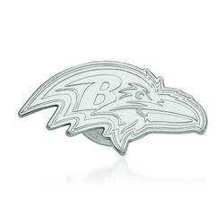 14kt White Gold NFL Baltimore Ravens Lapel Pin, , default