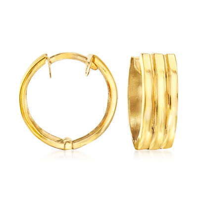14kt Yellow Gold Huggie Hoop Earrings