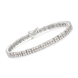 5.00 ct. t.w. Diamond Two-Row Bracelet in Sterling Silver, , default