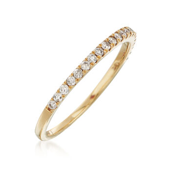 .25 ct. t.w. Diamond Stackable Ring in 14kt Yellow Gold, , default