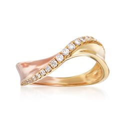 .23 ct. t.w. Diamond Curve Ring in 18kt Two-Tone Gold, , default