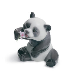 "Lladro ""A Cheerful Panda"" Porcelain Figurine, , default"