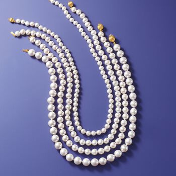 6-7mm Cultured Pearl Necklace with 14kt Yellow Gold, , default