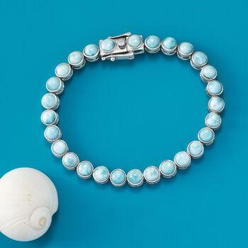 5mm Larimar Tennis Bracelet in Sterling Silver