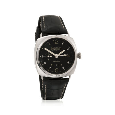 Panerai Radiomir 10 Days Gmt Power Reserve Men's 45mm Auto Mechanical 18kt White Gold Watch, , default