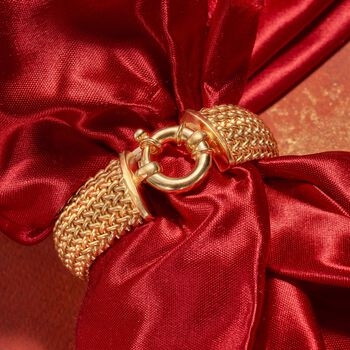 Italian 22kt Gold Over Sterling Silver Riso Bracelet, , default
