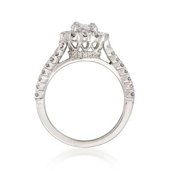 Henri Daussi 1.77 ct. t.w. Certified Diamond Engagement Ring in 18kt White Gold