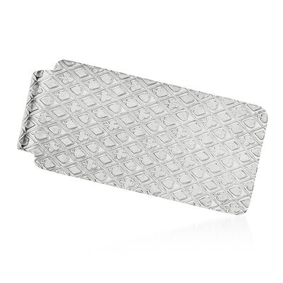 Sterling Silver  Polished Textured Money Clip, , default