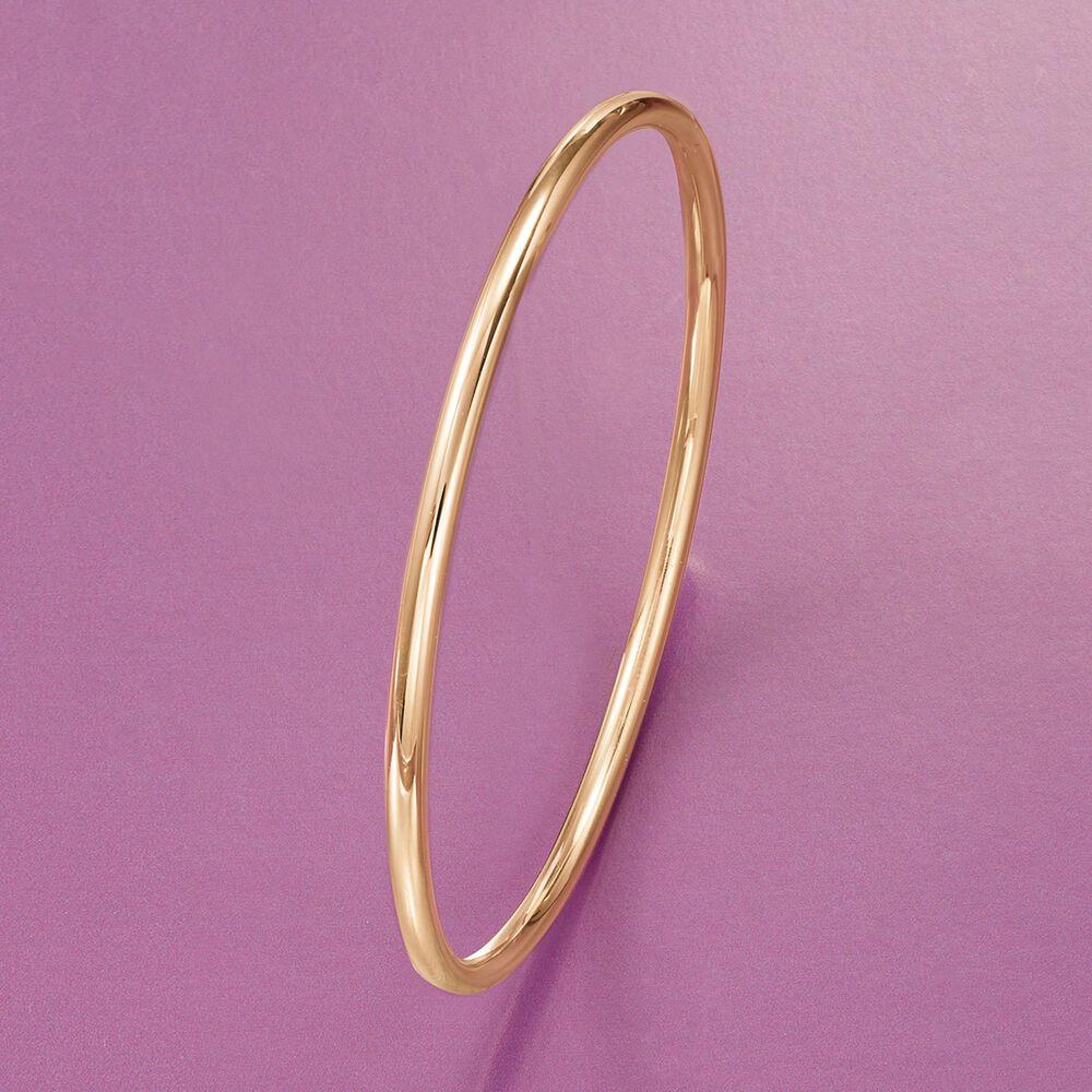 3mm 14kt Yellow Gold Bangle Bracelet | Ross Simons