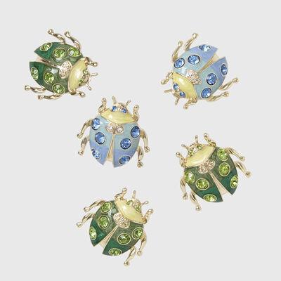 Joanna Buchanan Set of 5 Ladybug Clips, , default