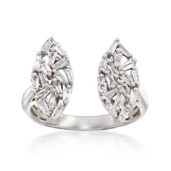 .64 ct. t.w. Baguette Diamond Marquise-Shape Ring in 14kt White Gold, , default