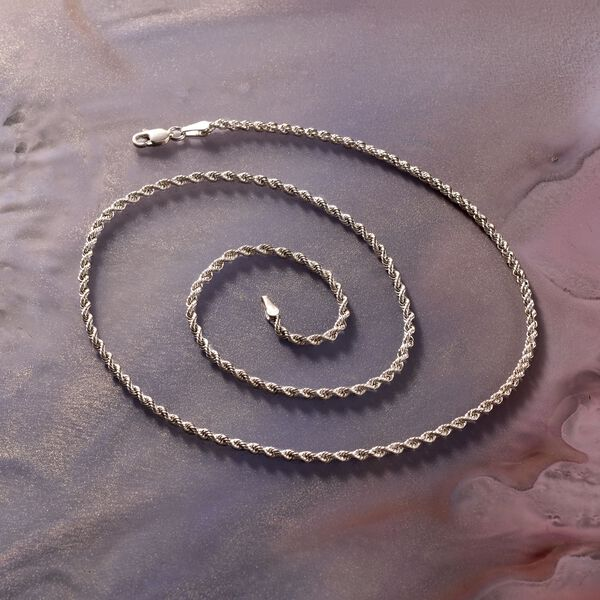 2mm Sterling Silver Rope Chain Necklace #885945