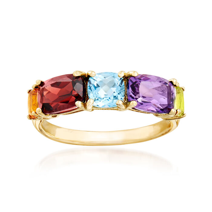 3.00 ct. t.w. Multi-Gemstone Ring in 14kt Yellow Gold