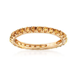 .80 ct. t.w. Citrine Eternity Band in 14kt Yellow Gold, , default