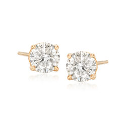 1.00 ct. t.w. Diamond Stud Earrings in 18kt Yellow Gold, , default